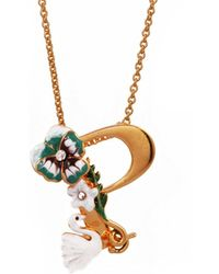 Les Nereides - Alphabet Fleuri Necklace - Lyst