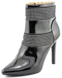 Armani Jeans - Uw584 Women Round Toe Patent Leather Bootie - Lyst