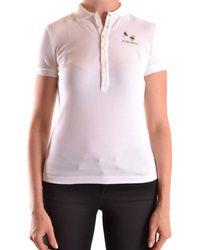 DSquared² - Women's White Cotton Polo Shirt - Lyst