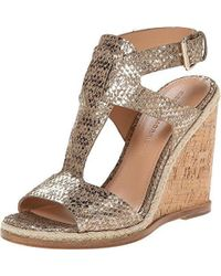 Sigerson Morrison - Women's Valina Wedge Sandals - Lyst