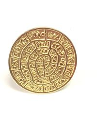 Jewelry Affairs - Greek Phaistos Disc Ring In 18k Gold Overlay Sterling Silver - Lyst