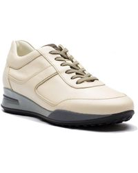Tod's   Men's Leather Allacciato Sport T Project Low Top Sneakers Shoes White   Lyst