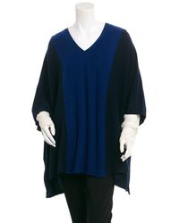 Magaschoni - Cashmere Mix Stitched Poncho - Lyst