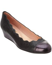 French Sole - Miles Leather Wedge - Lyst