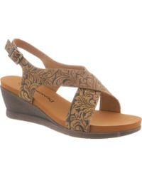 BEARPAW - Women's Opal Slingback Wedge Sandal - Lyst