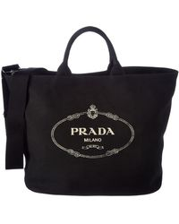 Prada Navy Leather Logo Large Top Handle Bag in Blue - Lyst 9c527dd2520df