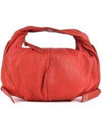 Givenchy - Red Aged Leather Rectangular Single Strap Hobo Shoulder Bag - Lyst