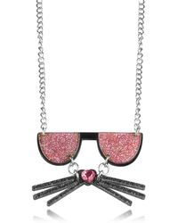 Karl Lagerfeld - Women's Pink Acrylic Necklace - Lyst