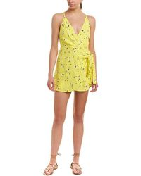 Free People - Tango At Night Floral-print Romper - Lyst