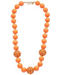 Kenneth Jay Lane - Gold Plated Resin Necklace - Lyst