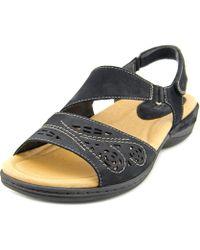 Earth - Arbor Women Open-toe Leather Black Slingback Sandal - Lyst