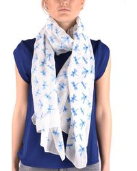 Altea - Women's Light Blue Cotton Scarf - Lyst