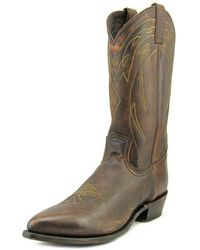 Frye - Billy Pull On Men Round Toe Leather Brown Western Boot - Lyst