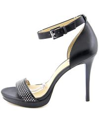 Michael Kors - Womens Shailene Leather Open Toe Special Occasion Ankle Strap Sa... - Lyst