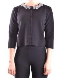 Blugirl Blumarine - Women's Black Wool Cardigan - Lyst