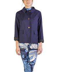 Miu Miu - Women's Virgin Wool Three-button Coat Navy - Lyst