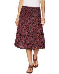 Zoe & Sam - Print A-line Skirt - Lyst