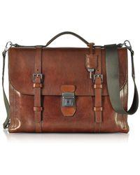 The Bridge - Men's Brown Leather Briefcase - Lyst