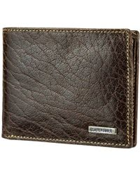 Steve Madden - Buff Crunch Leather Passcase Wallet - Lyst