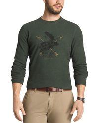 G.H.BASS - Mens Waffle Knit Graphic Casual Shirt - Lyst