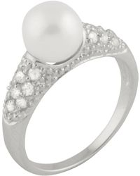 Splendid - Cluster Cz Fancy Pearl Ring - Lyst