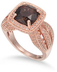 Suzy Levian - Sterling Silver 4.5 Cttw Smoky Quartz Ring - Lyst