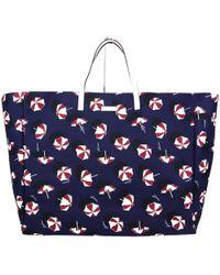 Gucci - Women's Blue Canvas Large Parasol Print Tote Handbag 286198 4160 - Lyst