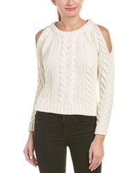 Anine Bing - Anine Bing Cold-shoulder Wool-blend Sweater - Lyst