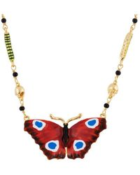 Les Nereides - Ostentatious Obscurity Butterfly Necklace - Lyst