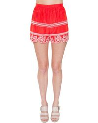 Sugarlips - Colleen Embroidered Short - Lyst