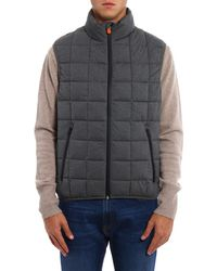 Save The Duck - Men's Grey Polyester Vest - Lyst