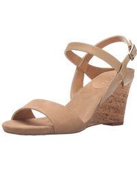 Tahari - Womens Fun Leather Open Toe Casual Platform Sandals - Lyst