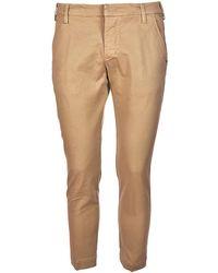 Entre Amis - Men's Beige Cotton Trousers - Lyst