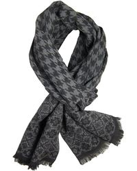 Dibi - Charcoal & Black Pattern Scarf - Lyst