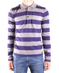 John Galliano | Men's Purple Cotton Polo Shirt | Lyst
