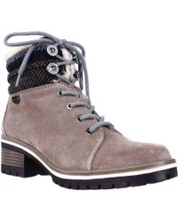 Anne Klein - Sport Langstyn Lined Lace Up Snow Boots, Dark Natural Multi - Lyst