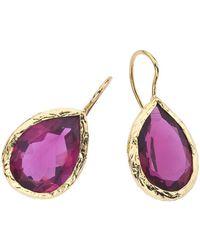 Jewelista - 18k Gold Plate & Quartz Earrings - Lyst