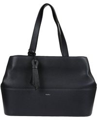 Max Mara - Women's Blue Leather Tote - Lyst