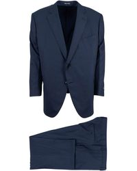 Pal Zileri - Blue Solid Wool Two Button Suit - Lyst