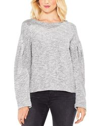Two By Vince Camuto - Womens Metallic Drop Shoulder Pullover Jumper - Lyst