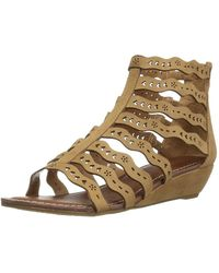 Carlos By Carlos Santana - Carlos By Carlos Santana Womens Kitt Fabric Open Toe Casual Strappy Sandals - Lyst