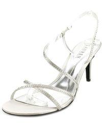 Lauren by Ralph Lauren - Theresa Open Toe Canvas Sandals - Lyst