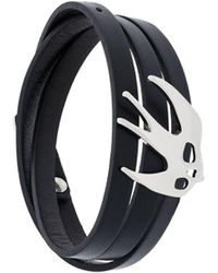 McQ - Women's Black Leather Bracelet - Lyst