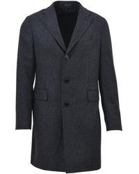Tagliatore - Men's Grey Cashmere Coat - Lyst