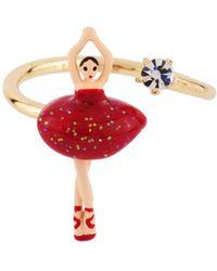 Les Nereides - Mini Pas De Deux With Red Ballerina Adjustable Ring - Lyst