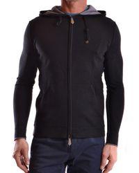 Paolo Pecora | Men's Black Silk Sweatshirt | Lyst