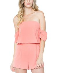 Sugarlips - Cassidy Off-the-shoulder Romper - Lyst