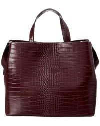 French Connection - Alana Croc-embossed Tote - Lyst