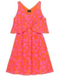 Bobeau - Lane Woven Print Dress - Lyst