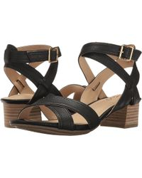 Me Too - Womens Mia Leather Open Toe Casual Ankle Strap Sandals - Lyst